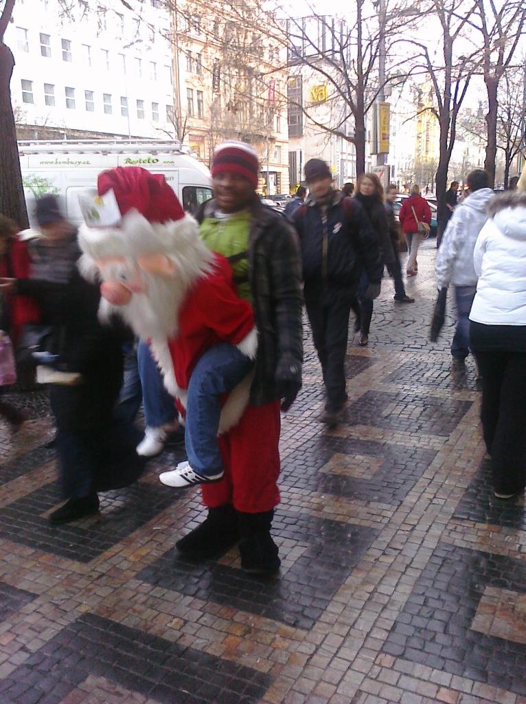 weird Czech Santa guy