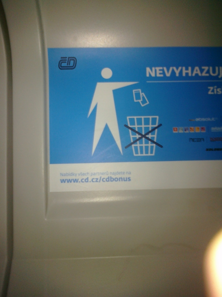 weird sign on train 2