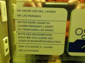 multi-lingual sign
