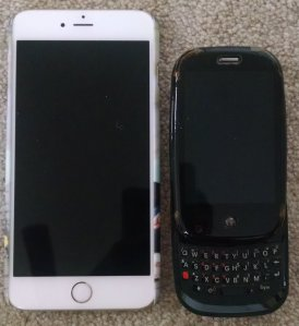 iPhone 6+ vs Palm Pre open