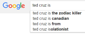Google Ted Cruz is...