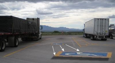 handicap spot for truck