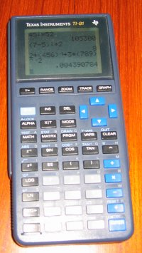 The TI-81 graphing calculator