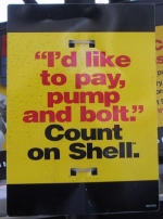 I'd like to pay, pump and bolt. Count on Shell