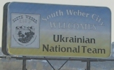 South Weber City welcomes Ukranian National Team - seemed a little out of place in Utah